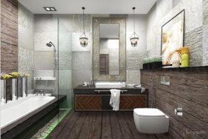 Утончённый стиль лофт: применяем для ванной комнаты