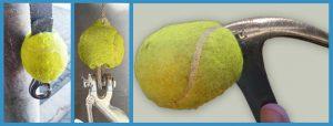 Использование теннисных мячей вне корта